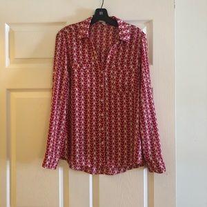 Express Portofino Shirt red/white butterfly print